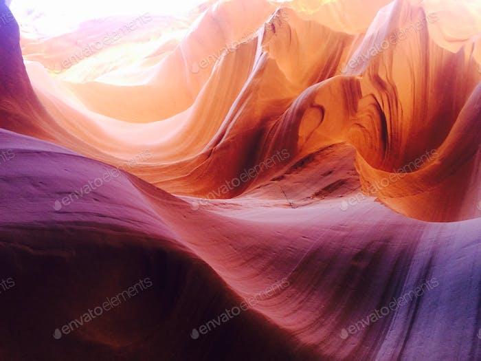 Beautiful textures of Antelope Canyon, Arizona, the USA