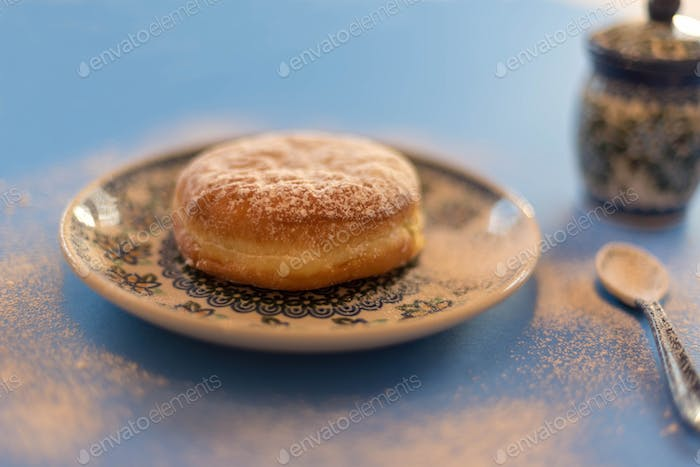 Traditional paczki pastry for Fat Tuesday