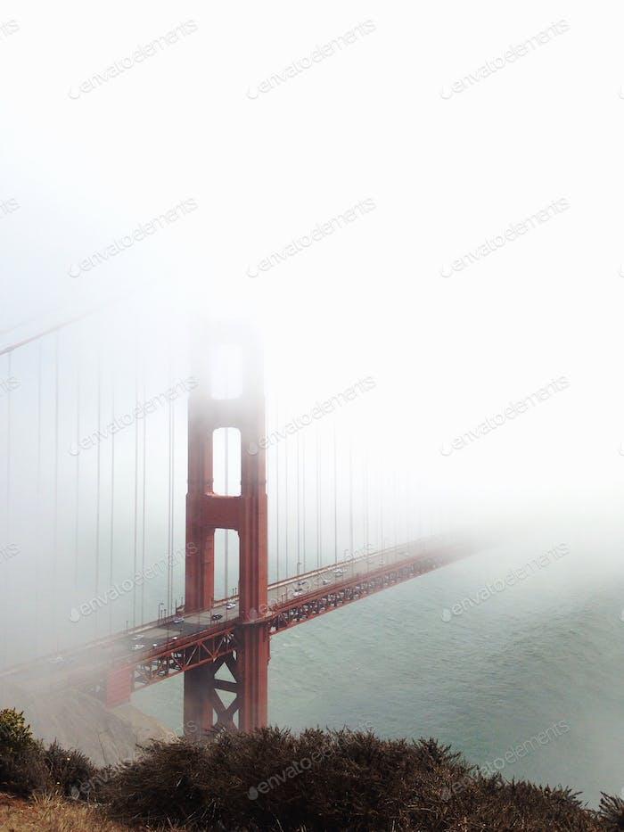 Goldenes Tor im Nebel