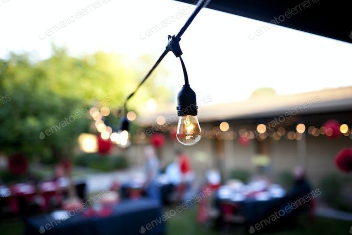 Outdoor bistro lighting.