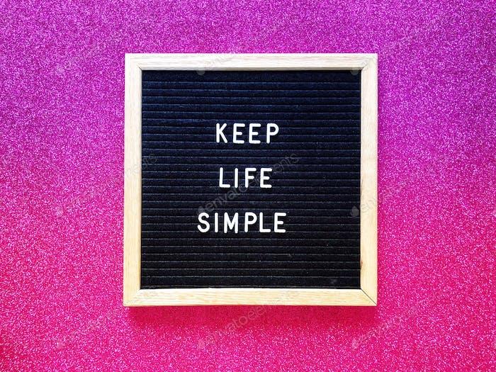 Simple living: Keep life simple