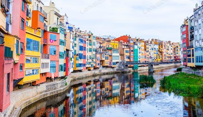 Girona is a city in Spain's northeastern Catalonia region, beside the River Onyar