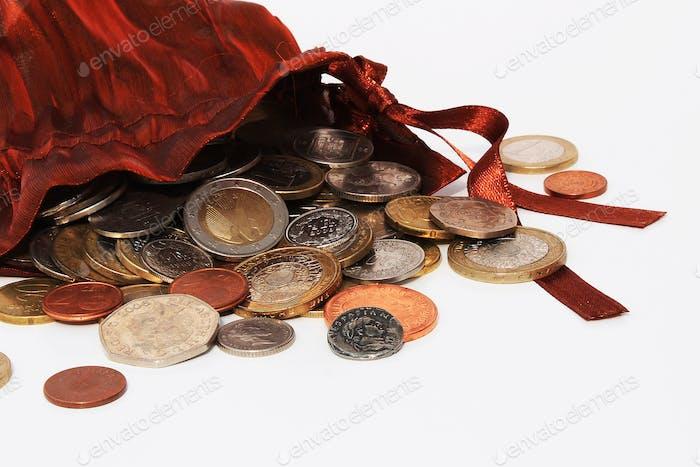 Sack Münzen