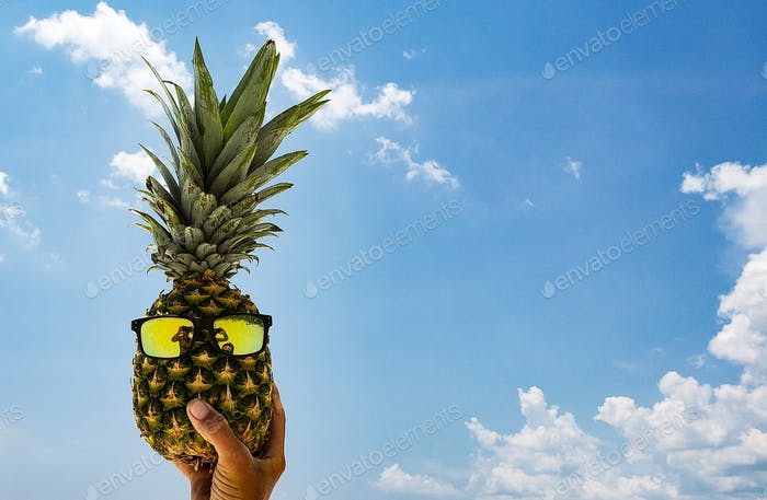 A handful of pineapple with an attitude...