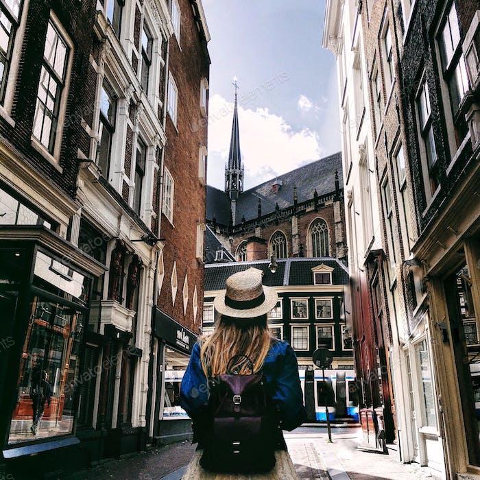 Walking through the Amsterdam