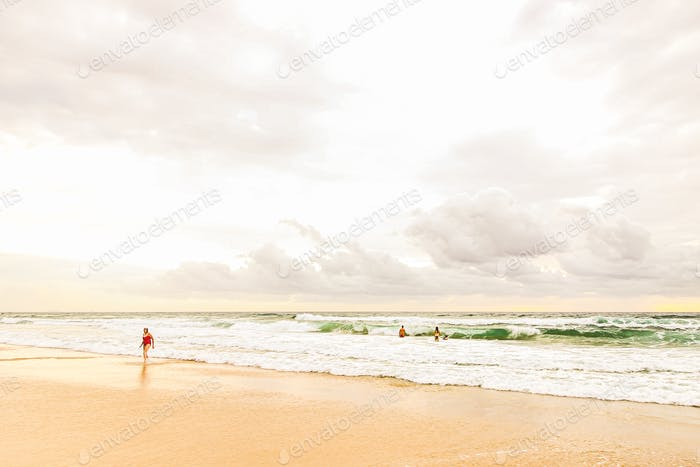 cloudy day at the beach