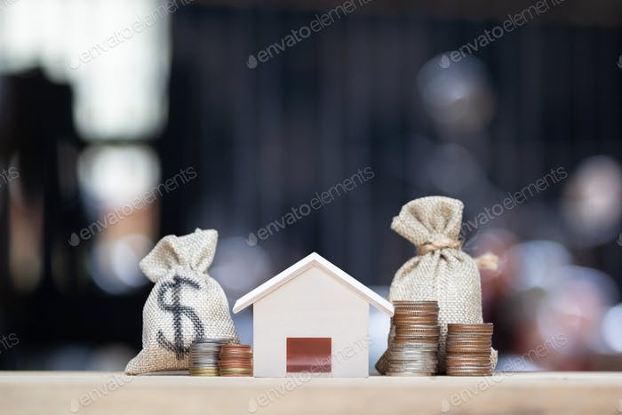 Home loan, mortgages, debt, savings money for home buying concept