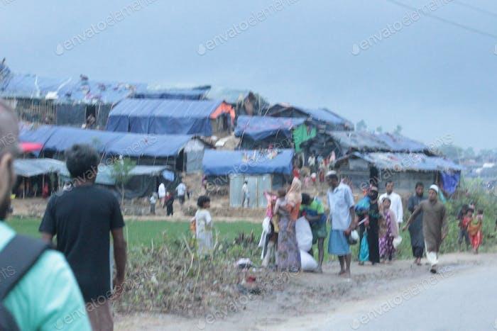view of cox'sbazar Rohingya refugee camp in Bangladesh