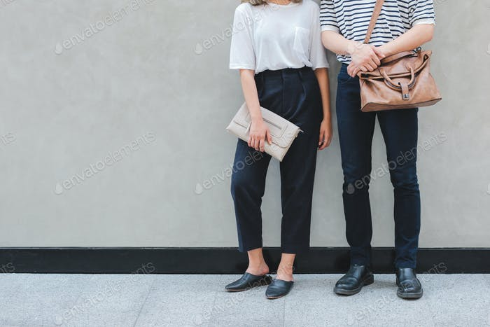 A couple in casual clothing street style