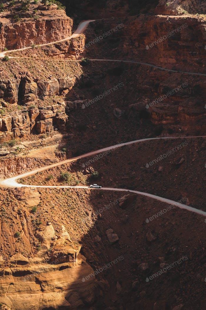 Dirt roads in Moab, UT.