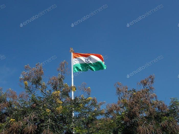 Flagge des demokratischen und souveränen Landes Indiens
