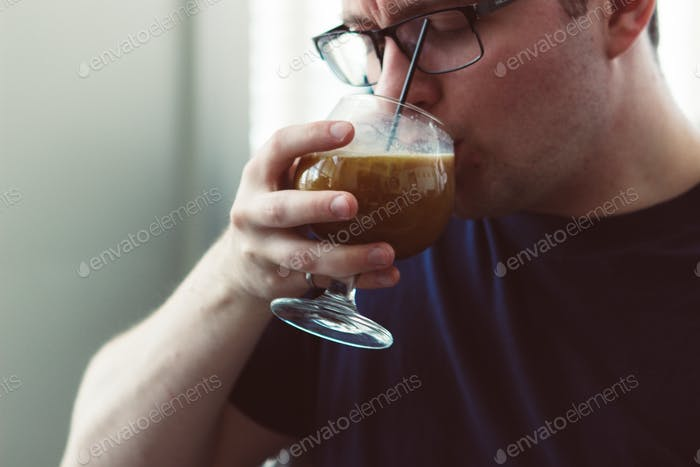 Drinking a Coffee Liquor Drink
