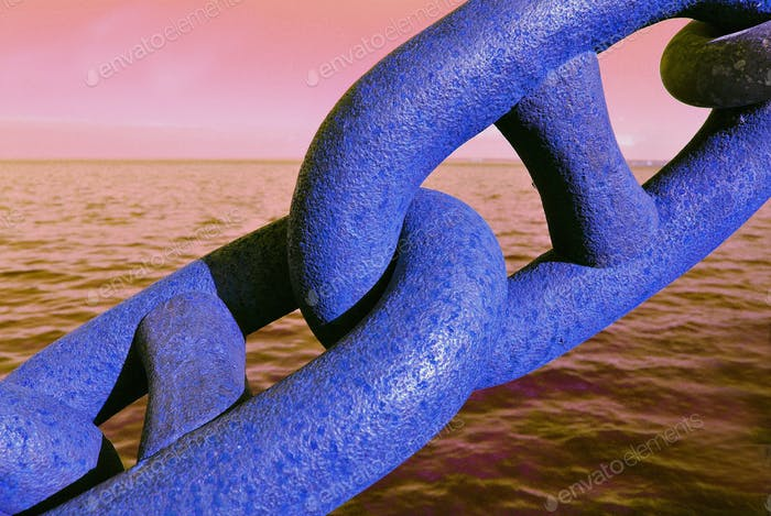 Beautiful almost-abstract photo of chain links