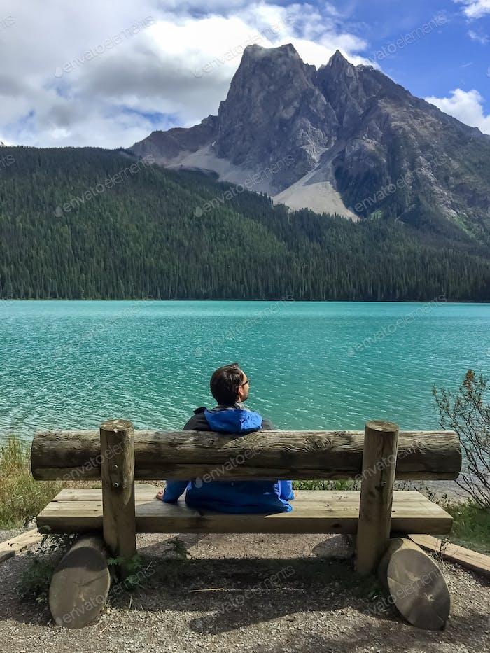 Taking a break from hiking