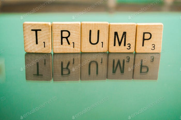 United States Political Issues for both Republicans and Democrats spelled out on Scrabble letter