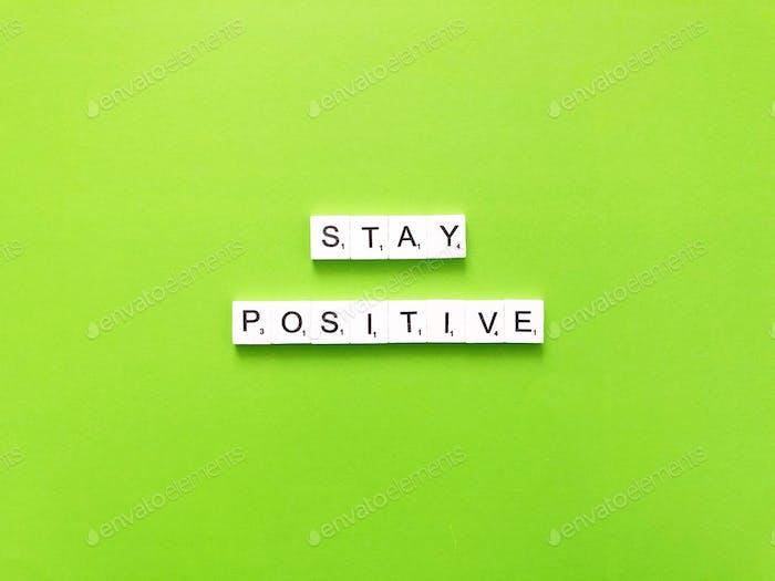 Manténgase positivo