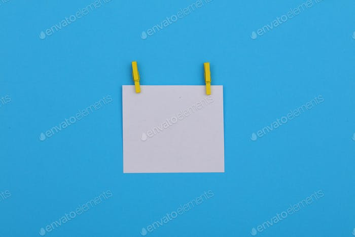 Paper, image blue background, white paper, message, notepaper