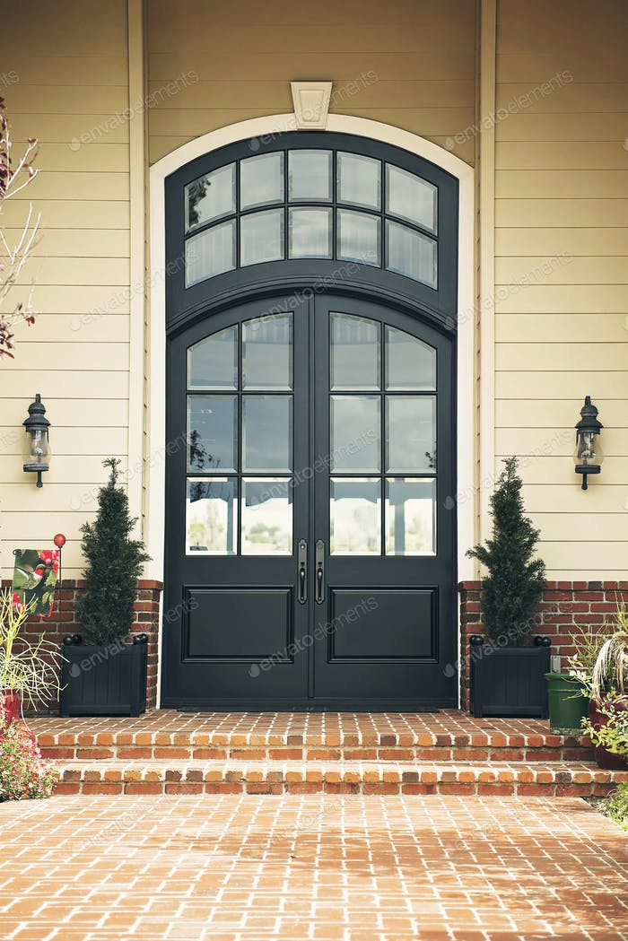 A set of beautiful black doors to die for