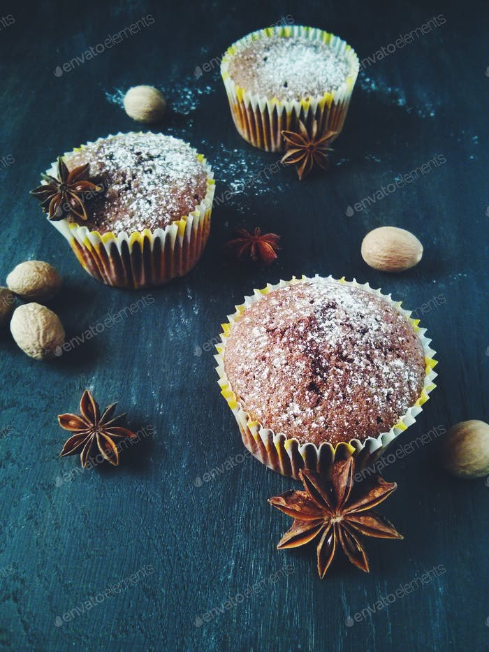 Homemade Muffins. Taked by VSCO for Android. Filter F2.