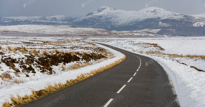 Winter weather in the Highlands of Scotland