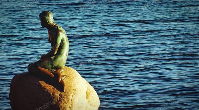 A little mermaid in Copenhagen