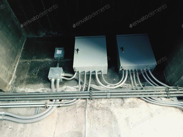 Elektrischer Verteilerkasten an der Zem