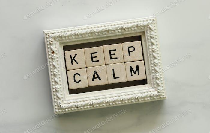 Keep calm phrase