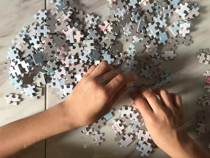 Hands in frame