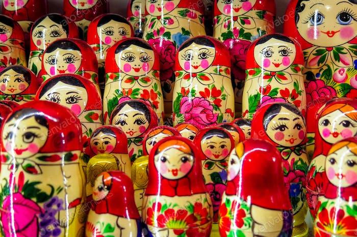 Matryoshka dolls in Hungary.