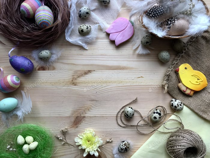 Easter flatlay