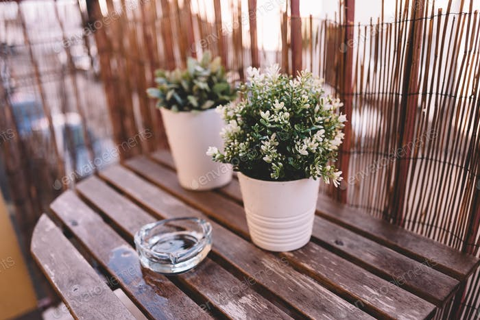 Side table on terrace