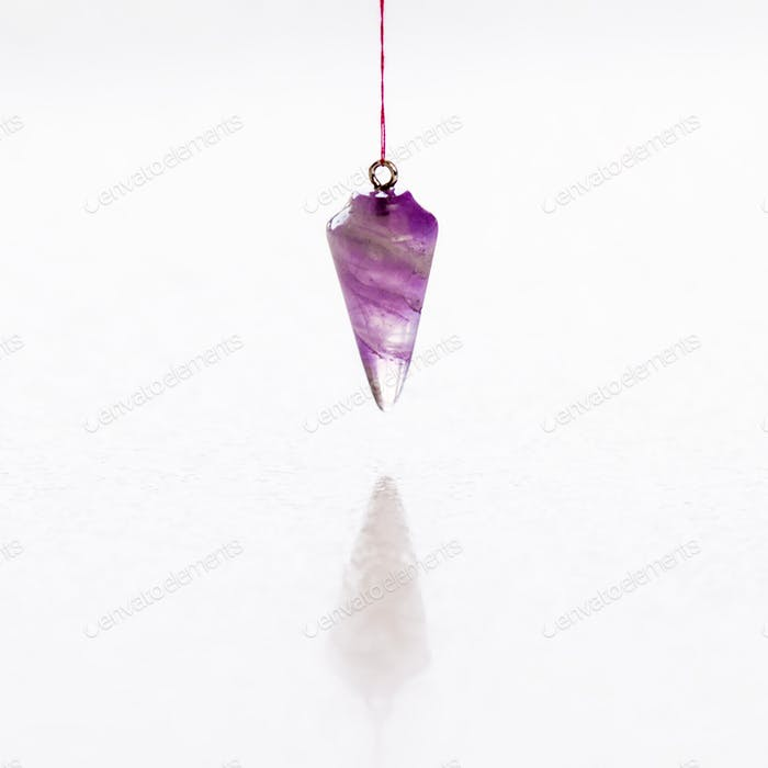 amethyst cone pendulum