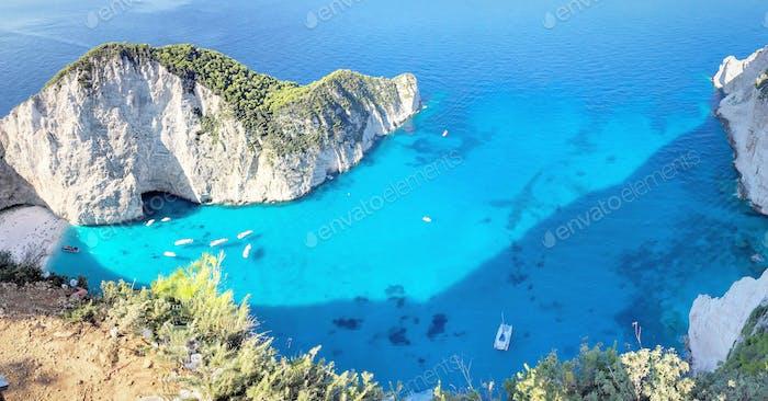 Zakynthos (zante) famous shipwreck beach