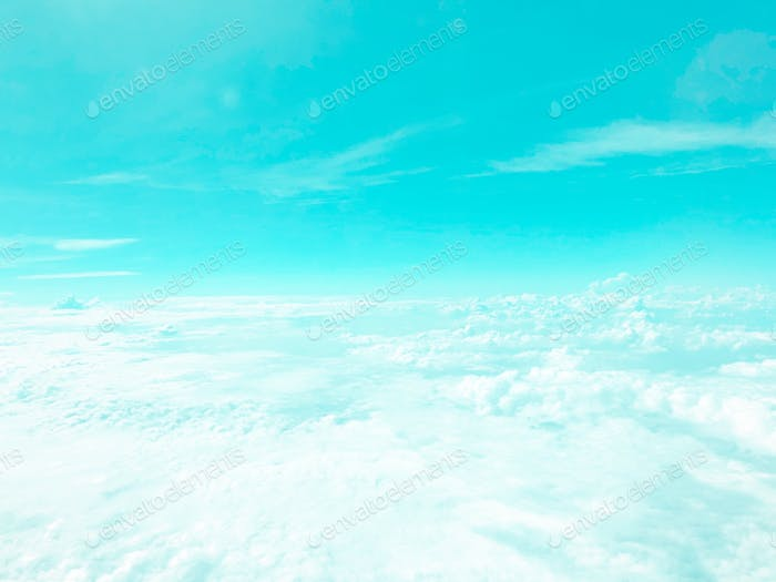 Heavenly blue paradise cloudscape