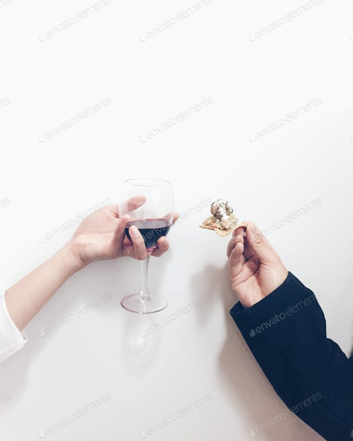 Cheers to wine and finger food