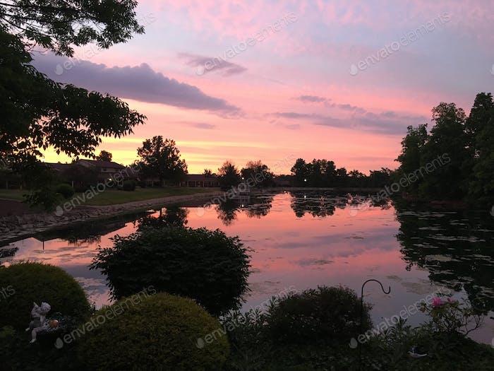 Atemberaubende Sonnenuntergang