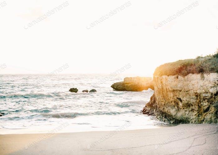 Coastal view in Monopoli Italy.