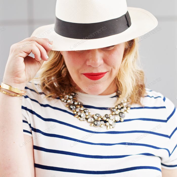 Summer fashion with a hat
