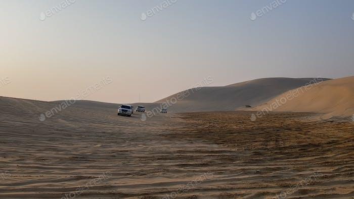 Sand dunes of Desert in Qatar