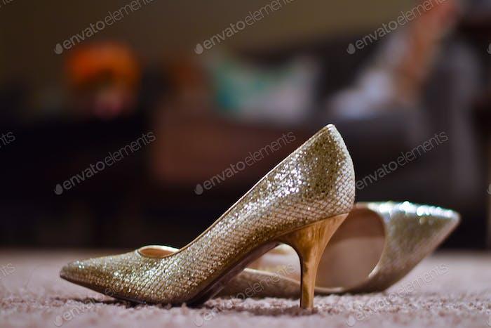 Die Schuhe aussteigen