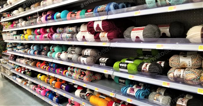 Retailing Shopping for Colorful Yarn!