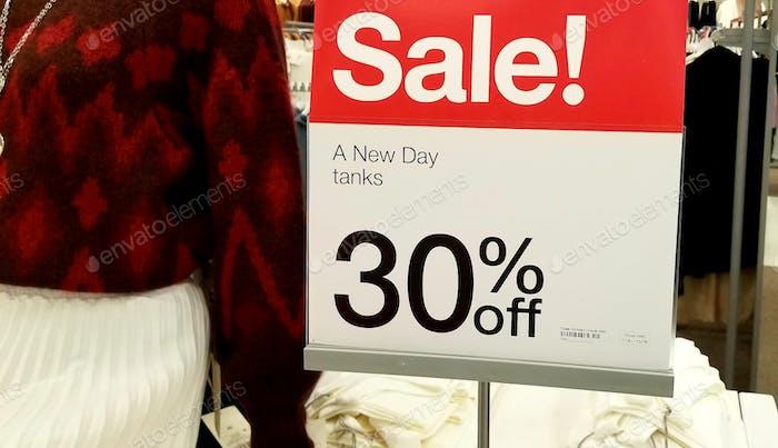 Retail Shopping! Sales! Advertising! Discount. Savings.