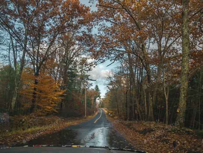 On the road in New England.