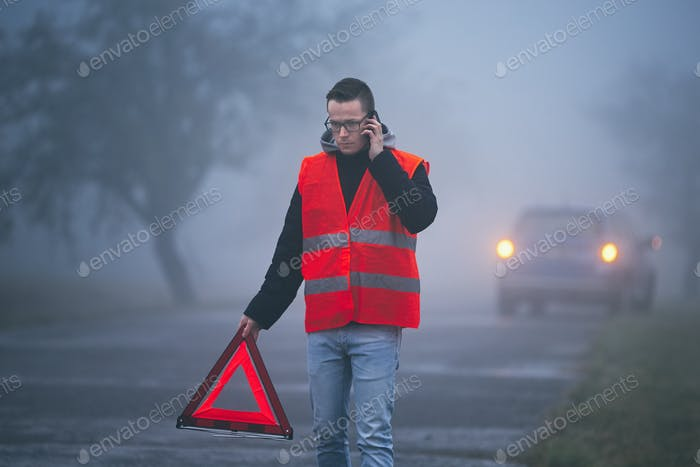Traffic problem in thick fog