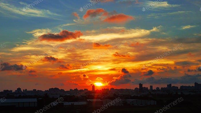 Sunset. Taiwan