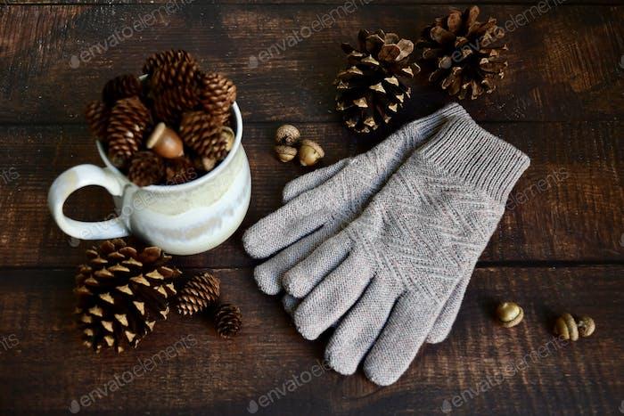 Handschuhe auf der Theke