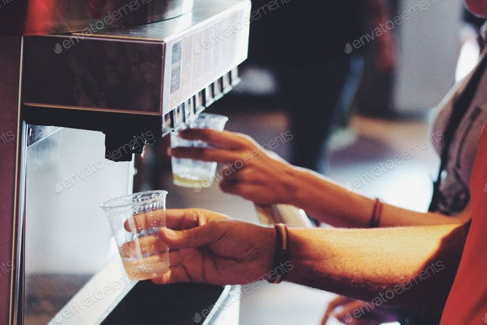 Drinking aerated drinks