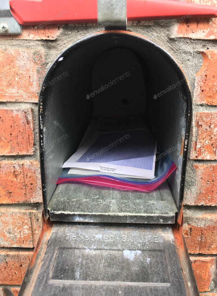 Mail in the mailbox