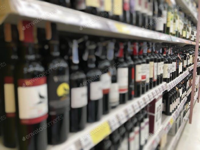 Alcohol shelf