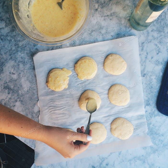 Zitronenorange Ricotta Kekse